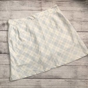 Burberry light blue skirt